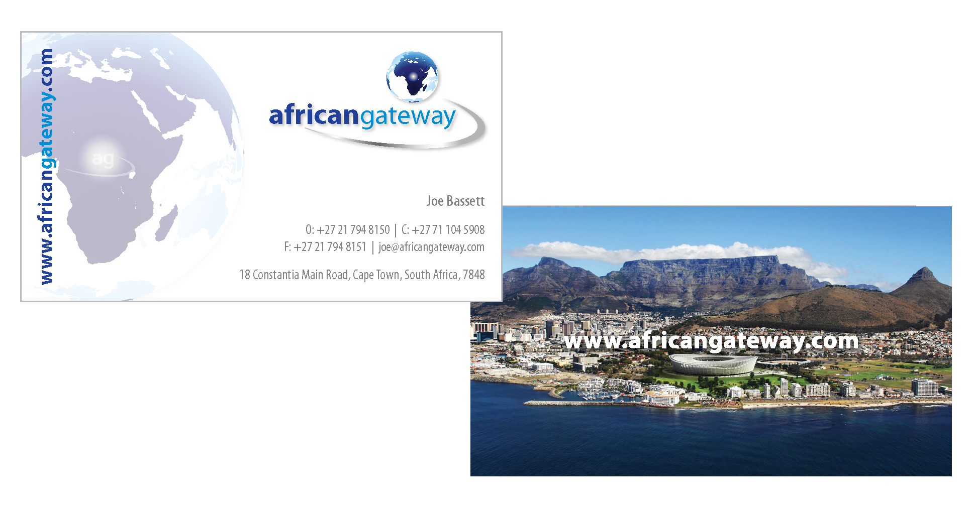 african gateway business card