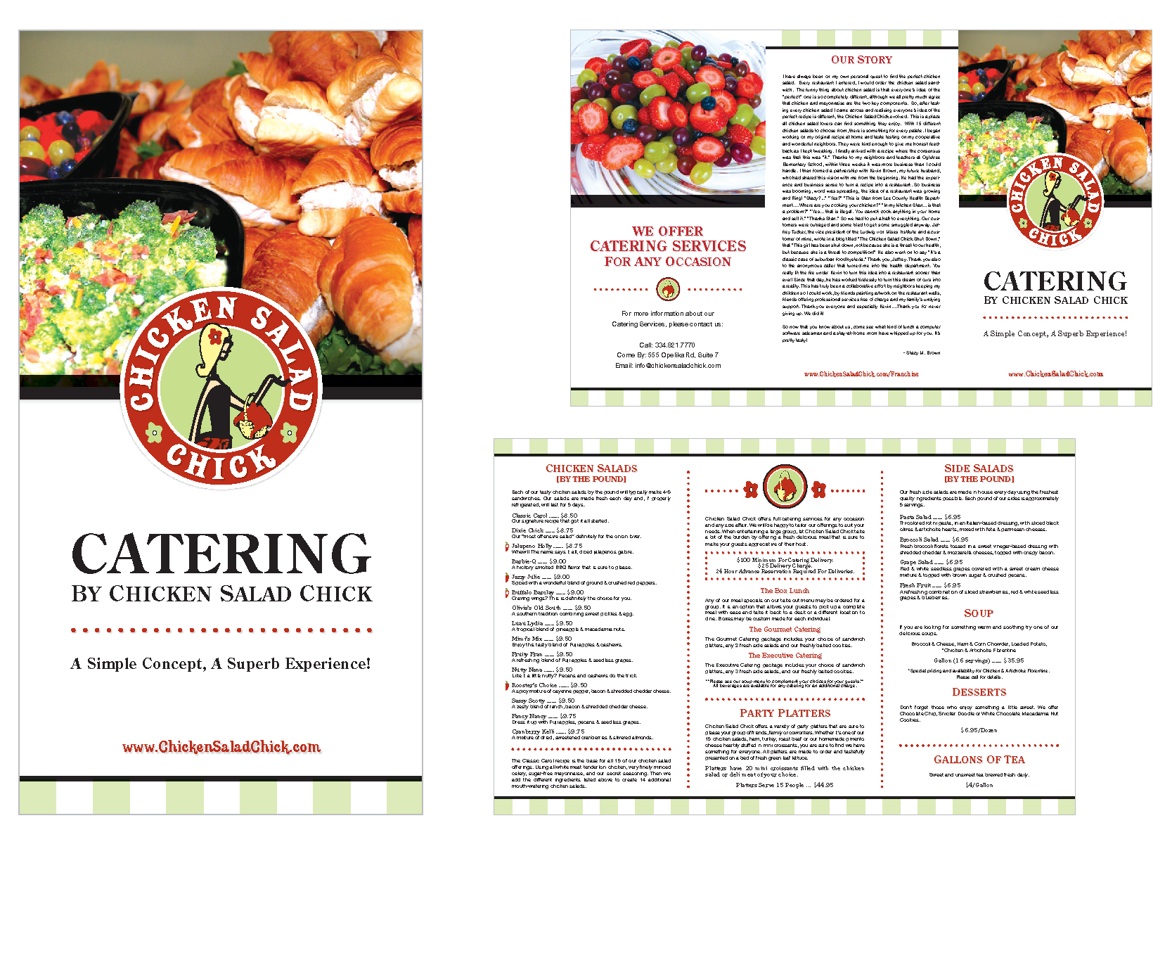 chicken salad chick catering menu