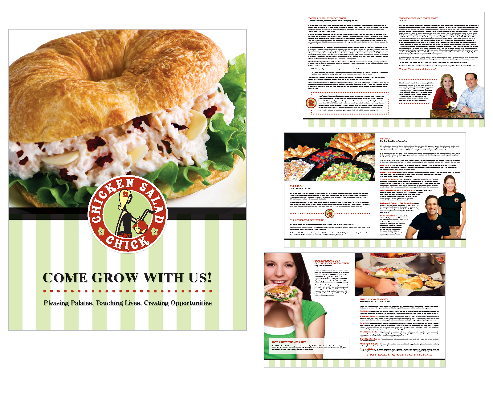 chicken salad chick marketing brochure