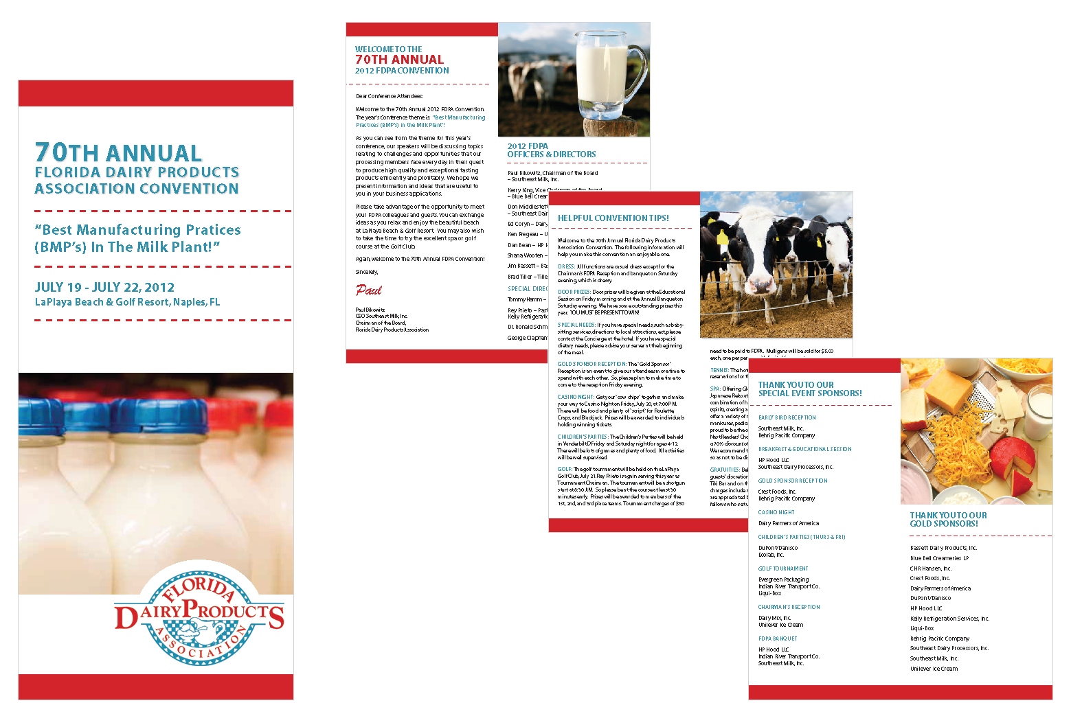 florida dairy products association convention brochure