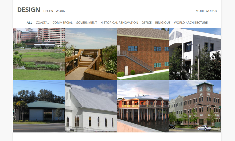 Website Screen Capture of Hammond Design Group's Portfolio