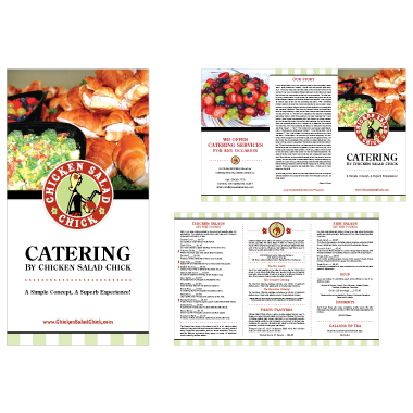 Chicken Salad Chick Catering Menu Design