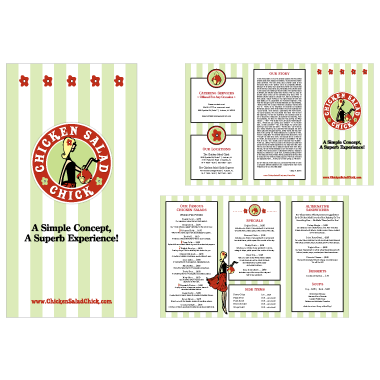 Chicken Salad Chick Menu Design