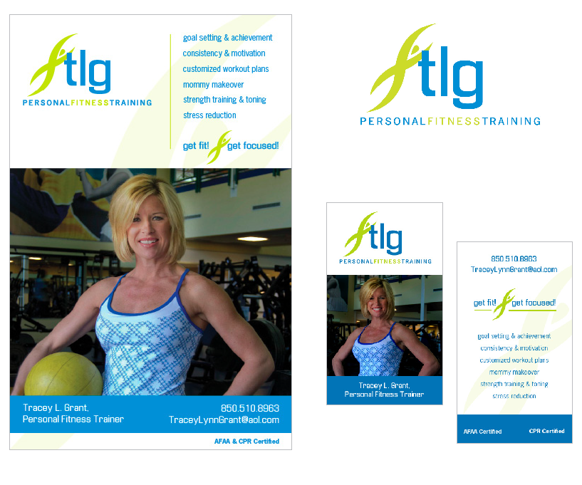tlg fitness flyer and business card