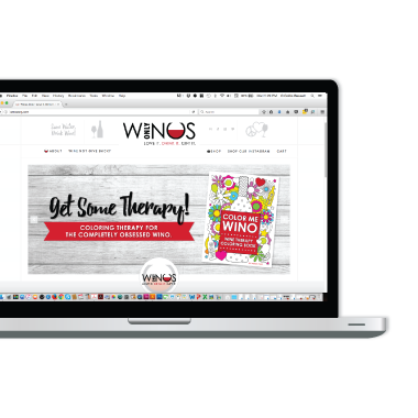 winos only e-commerce website design